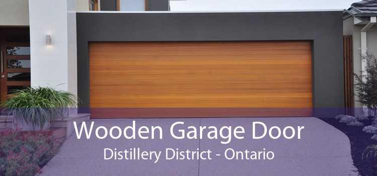 Wooden Garage Door Distillery District - Ontario