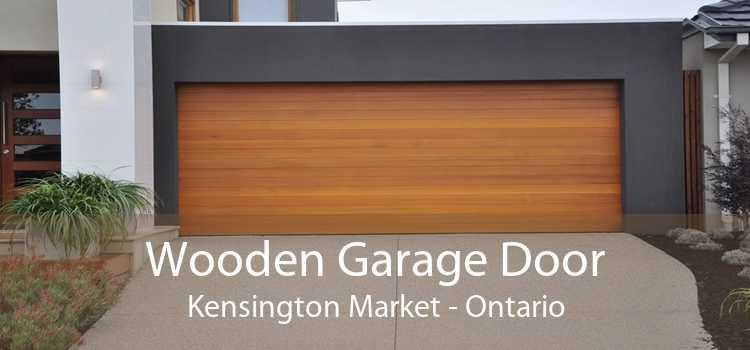Wooden Garage Door Kensington Market - Ontario