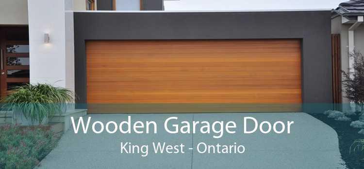 Wooden Garage Door King West - Ontario