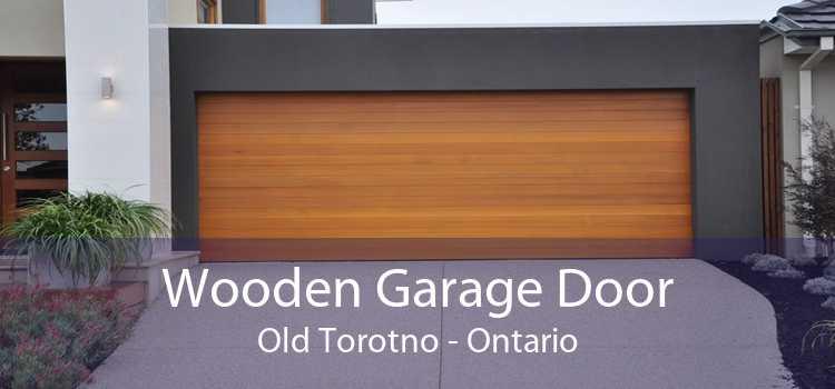 Wooden Garage Door Old Torotno - Ontario