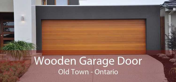 Wooden Garage Door Old Town - Ontario
